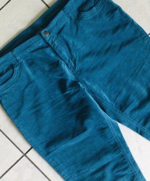Manor Woman Five-Pocket Trousers cadet blue-steel blue cotton