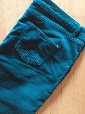 Manor Woman Spodnie z pięcioma kieszeniami morski-stalowy niebieski Bawełna