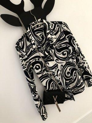 Extravagante Schwarz-weiße Bluse