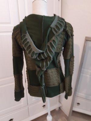 Vishes Veste chemise vert olive-vert forêt coton