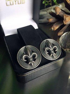 Orecchino a clip argento-nero