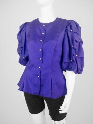 Extravagante Vintage Bluse in Lila