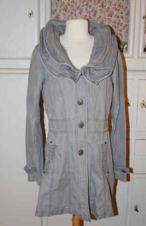 Mymo Between-Seasons-Coat light grey cotton