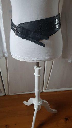 Extravaganter Ledergürtel 80cm NEU schwarz