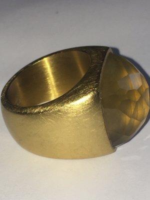 Breil Zdobiony pierścionek złoto