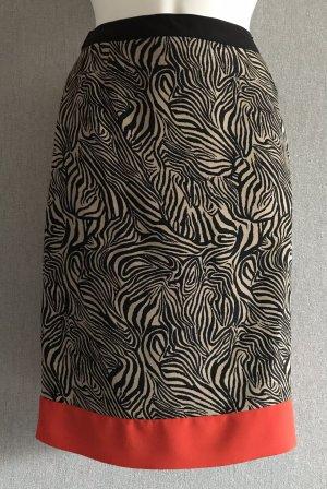 Extravaganter Rock von s.Oliver, rot, beige, schwarz