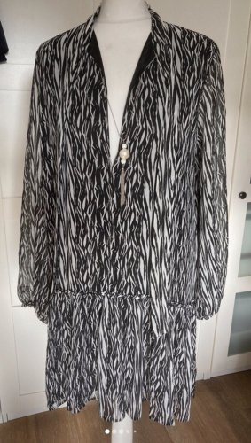Be Edgy Tunic Dress black-white
