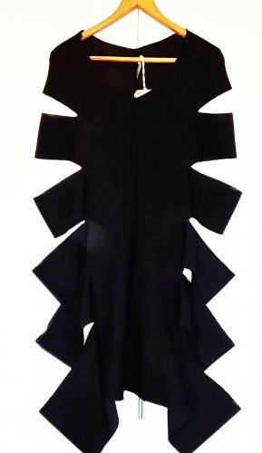 Cut Out Dress black polyester
