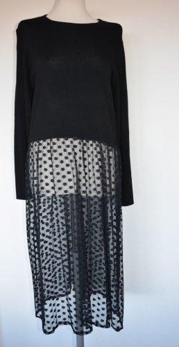 Extravagantes Kleid im Materialmix - neu