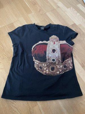 extravagantes Shirt mit Glitzersteinen