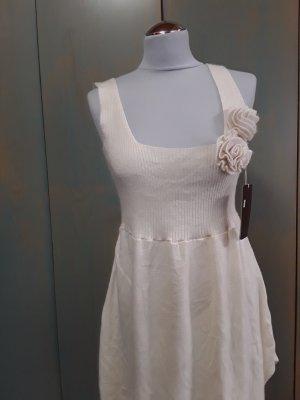 EXTRE:Kleid/Oberteil aus Wolle, ausgefallen, Creme, Gr.M