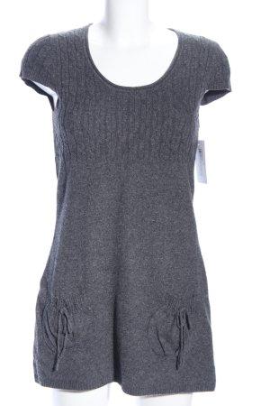 Maglione a maniche corte grigio chiaro puntinato stile casual