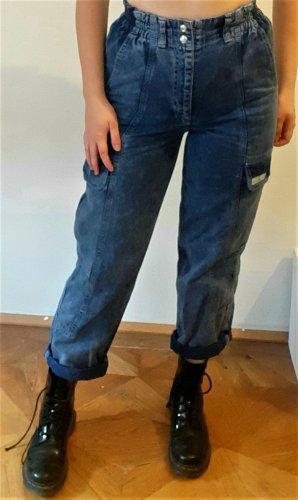 BGD Urban Outfitters Bojówki chabrowy-stalowy niebieski