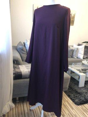 extrem lange bluse / maxikleid in lila