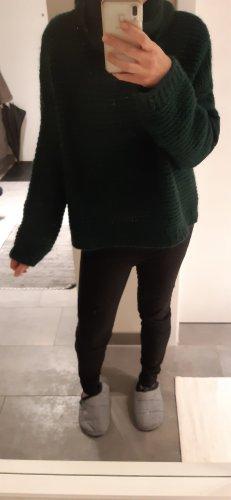 Jersey de punto grueso verde oscuro-verde bosque