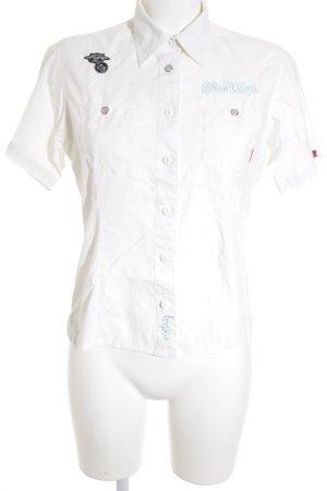 exxtasy Kurzarmhemd weiß Elegant