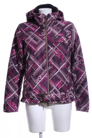 exxtasy Winterjacke pink-weiß abstraktes Muster Casual-Look
