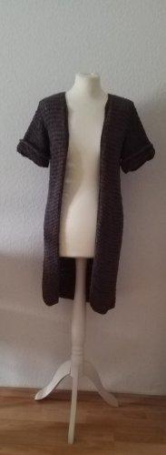 Kookai Szydełkowany sweter szaro-brązowy
