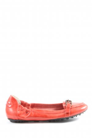 Eye Foldable Ballet Flats red casual look