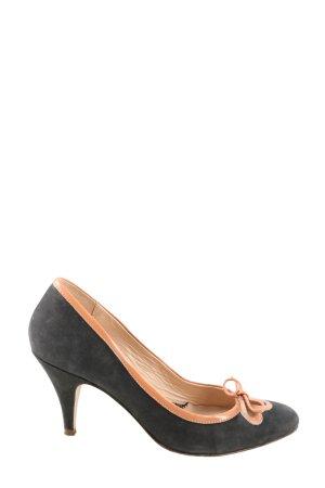 Eye High Heels schwarz-nude Business-Look