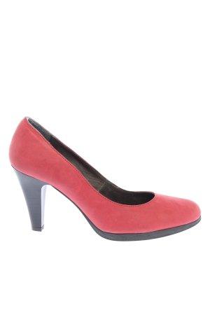 Eye High Heels rot-schwarz Casual-Look