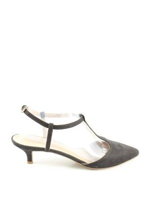 Eye Zapatos de tacón con barra en T negro look casual