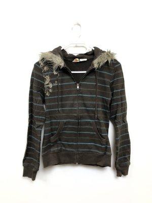 Ezekiel Hoodie Kapuzenpullover Sweatshirt Sweatjacke Gr. S Fake Fur Fell