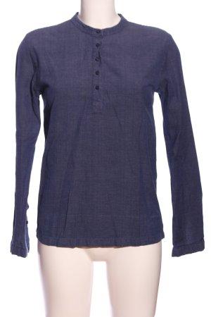 Ezekiel Langarm-Bluse blau meliert Casual-Look