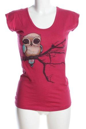 Ezekiel Print-Shirt pink Motivdruck Casual-Look