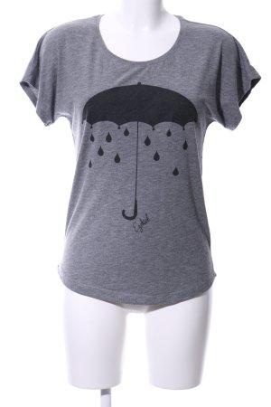 Ezekiel T-Shirt hellgrau meliert Casual-Look