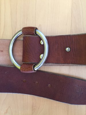 Friis & Company Leather Belt brown-silver-colored