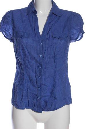 F&F Kurzarm-Bluse blau Business-Look