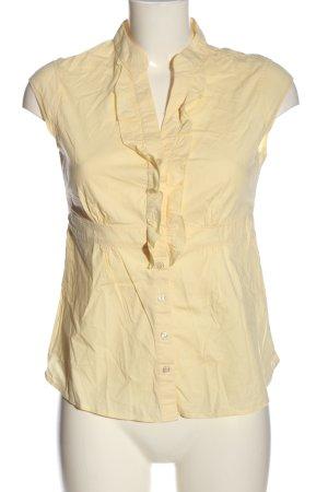 F&F Camisa de manga corta amarillo pálido look casual