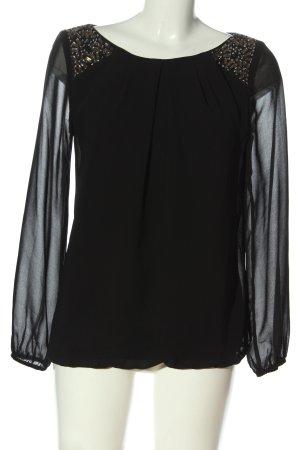 F&F Langarm-Bluse schwarz Elegant