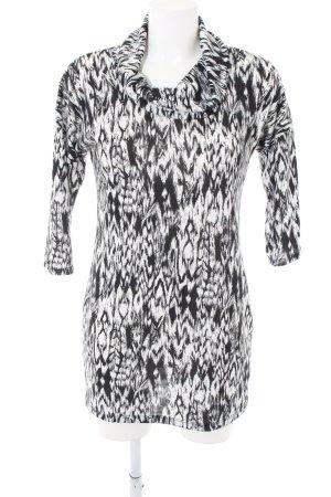 F&F Rollkragenpullover schwarz-weiß abstraktes Muster Casual-Look