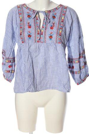 F&F Schlupf-Bluse blau-weiß Streifenmuster Casual-Look