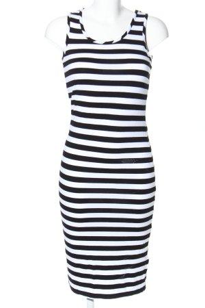 F&F Shirtkleid weiß-schwarz Allover-Druck Casual-Look