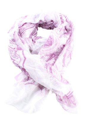 F&F Écharpe d'été blanc-rose style décontracté