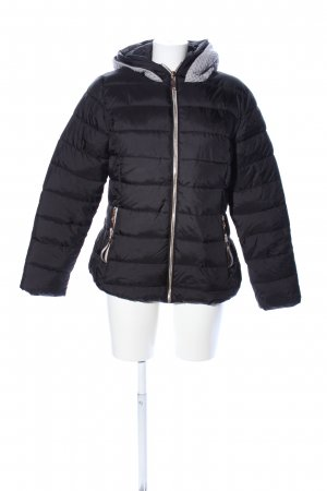 Winterjacke schwarz Steppmuster Casual-Look