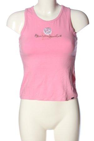 F.lli campagnolo cmp Trägertop pink Schriftzug gedruckt Casual-Look