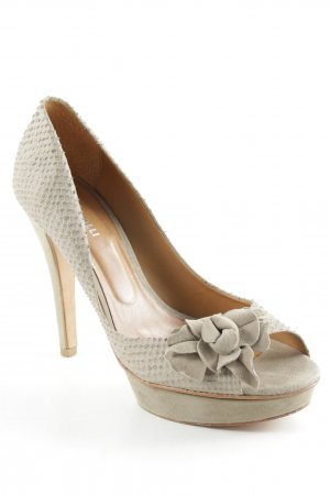 F. Rizzolli Plateau-Pumps beige Animalmuster Party-Look