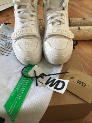 F_WD Sneaker alta bianco-verde neon