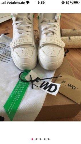 F_wd high top sneaker weiß
