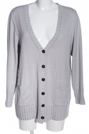 Faber Cardigan light grey flecked casual look