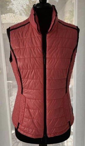 Faber finest fashion Weste 40 vest Steppweste rot Koralle schwarz NP 79€