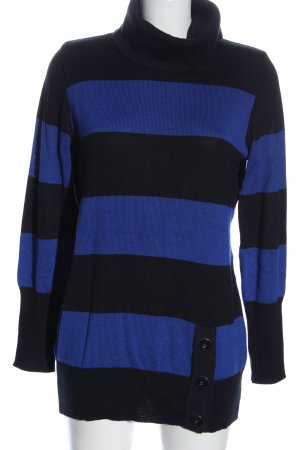 Faber Turtleneck Sweater black-blue allover print casual look