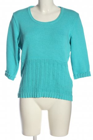 Faber Crewneck Sweater turquoise casual look