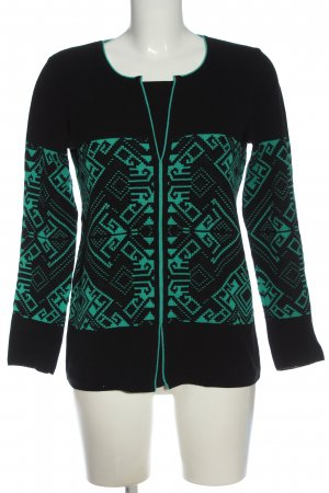 Faber Crewneck Sweater black-green graphic pattern casual look