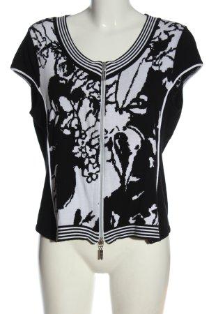 Faber Kurtka o kroju koszulki czarny-biały Graficzny wzór W stylu casual