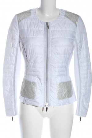 Faber Chaqueta acolchada blanco-color plata estampado acolchado look casual